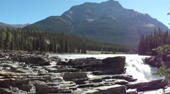 Rocky Mountain Waterfall Jasper National Park 7 Stock Footage