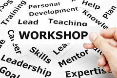 workshop paper words concept - stock illustration