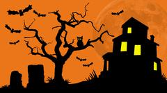 Haunted House Hill Stock Illustration