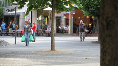 Daily Life at Center of Neuwied Stock Footage