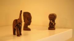 Elephant Wooden Trinket - stock footage