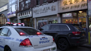 Stock Video Footage of Police Car in Chinatown, New York City in 4K