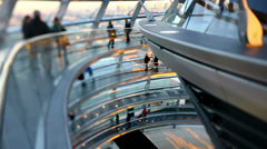 Inside The Reichstag cupola in Berlin. Stock Footage