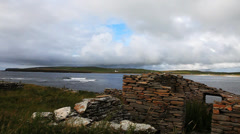 At the Bay Of Skaill, Orkney, Scotland Stock Footage