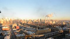 NYC Cold Winter Morning Queensboro Bridge Stock Footage