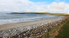 The Bay Of Skaill, Orkney, Scotland Stock Footage