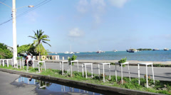 San Andres, Colombia, January 14 2014. View of the San Andres Island Streets, Bu Stock Footage