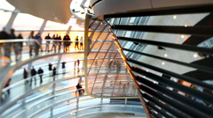 Inside Bundestag cupola in Berlin. Stock Footage