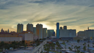 Stock Video Footage of Las Vegas Skyline Time Lapse