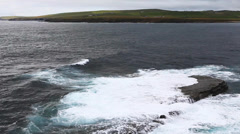 The Bay Of Skaill, Orkney Stock Footage