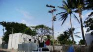 Stock Video Footage of San Andres, Colombia, January 14 2014. View of the San Andres Island Streets, Bu