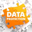 Stock Illustration of Data Protection on Orange Puzzle.