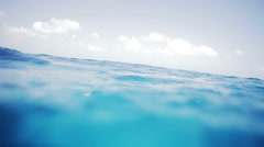 Loopable Video of Waves in the ocean in the middle of nowhere Stock Footage