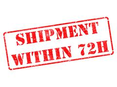Shipment within 72h on Red Rubber Stamp. Stock Illustration