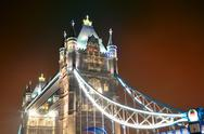 Stock Photo of tower bridge at night