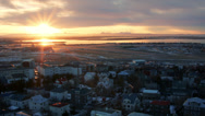 Stock Video Footage of Reykjavik Airport from Church Tower