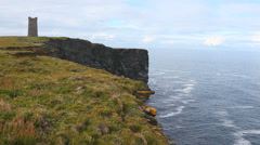 Kitcheners Memorial on Marwick Head in the Orkney Islands, Scotland. Stock Footage