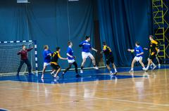 international handball tournament in memory of the first governor of orenburg - stock photo