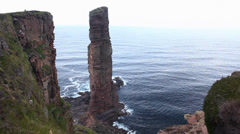 The Old Man of Hoy , Orkney Islands, Scotland Stock Footage