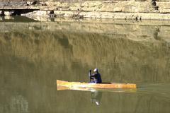 Canoe on the Kentucky River Cascades II Stock Photos