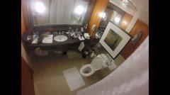 Fisheye view of a bathroom  Stock Footage