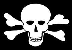 Skull and Crossbones 1 - stock illustration
