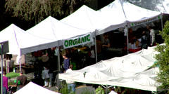 Farmer's Market Organic Food  Stock Footage