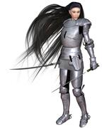 Stock Illustration of Female Elf Warrior