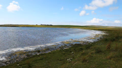 A quiet loch side scene in Orkney, Scotland Stock Footage