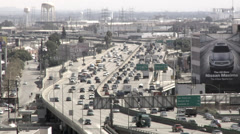 10 freeway Los Angeles California time lapse day Stock Footage