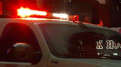 Closeup of paramedic vehicle Stock Footage