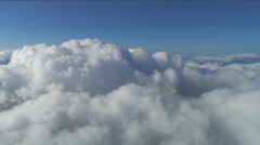 Midday Aerial Clouds - stock footage