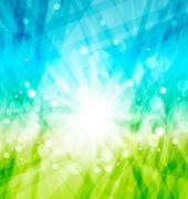 Modern abstract background with sun rays Stock Illustration