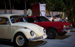 Retro klassinen autot Kuvituskuvat