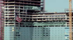 New Construction, High Rise Building, Downtown Los Angeles - stock footage