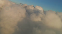 Banking over Aerial Clouds Stock Footage