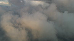 Active storm front fly-in, Aerial Clouds Stock Footage