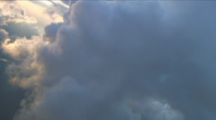 Stock Video Footage of Edge of thundercloud, Aerial Clouds