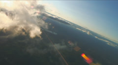 Turning into sun, Aerial Clouds Stock Footage