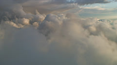 Storm front layers, Aerial Clouds Stock Footage