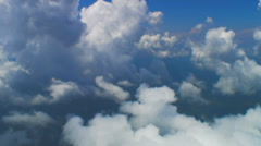 Puffies grow in the afternoon, Aerial Clouds - stock footage