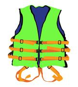 Green life jacket Stock Illustration