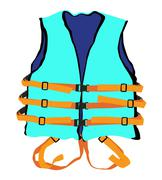 Blue life jacket Stock Illustration