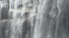 Cascade waterfall in Briksdal, Norway - full screen Stock Footage