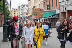 Oslo Norway Youth Parade - stock photo