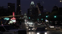 AUSTIN AT NIGHT - stock footage