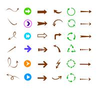 Colorful arrows icon set Stock Illustration