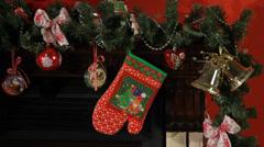 Christmas, New Year interior decor Stock Footage