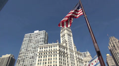Wrigley Building Chicago - stock footage