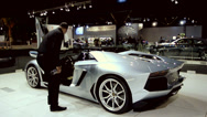 Stock Video Footage of Lamborghini Aventador LP 700-4 Roadster